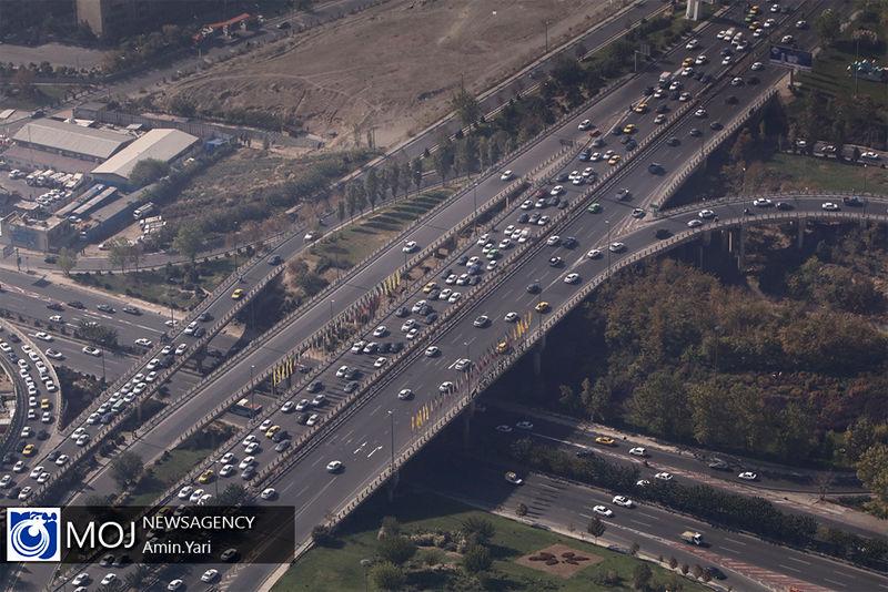 وضعیت ترافیکی بزرگراه های تهران در صبح روز ۲۴ دی اعلام شد