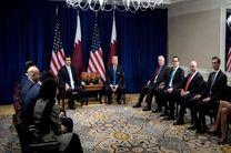 دیدار امیر قطر با دونالد ترامپ