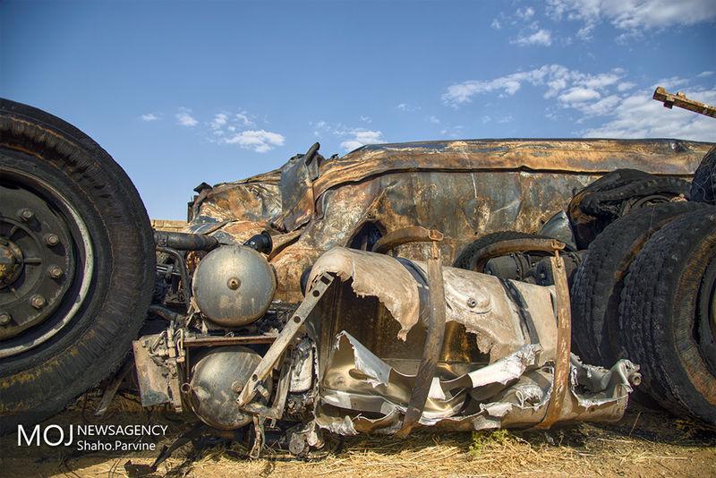اسامی مصدومین حادثه تصادف اتوبوس با تانکر سوخت