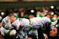 مراسم شیرخوارگان حسینی در حرم حضرت معصومه(س) و مسجد جمکران برگزار شد