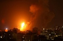بمباران نوار غزه توسط جنگنده های رژیم صهیونیستی