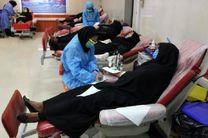 اهدای خون بسیج جامعه زنان شهرستان بندرلنگه