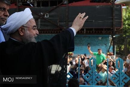 شرکت حسن روحانی در انتخابات