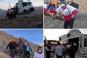 نجات یک خانم کوهنورد از ارتفاعات شاه قنداب شهرضا