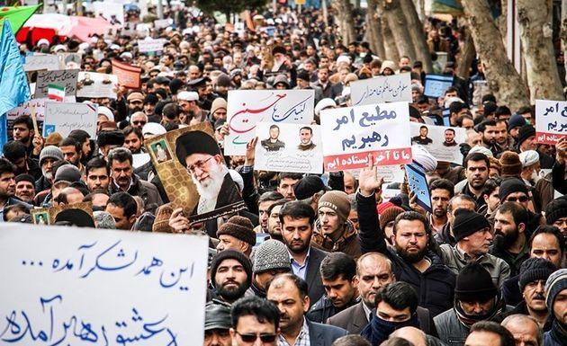 راهپیمایی باشکوه مردم اصفهان از اقدامات اغتشاشگران