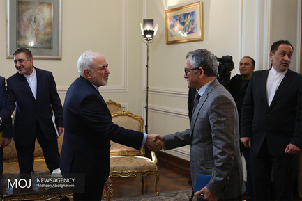 دیدار نماینده ویژه سازمان ملل متحد در امور سوریه با ظریف