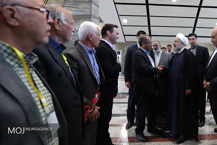 افتتاح اتصال راه آهن کرمانشاه به شبکه سراسری راه آهن کشور
