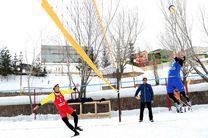 مسابقات والیبال در برف  در ایران برگزار شد