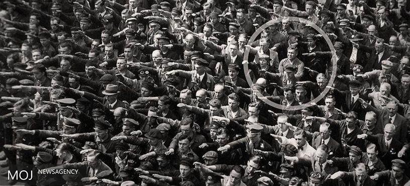 تصویر دیدنی از مخالفت یک مرد با نازی های آلمان + عکس