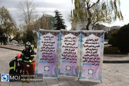 رونمایی از ماشین آلات داخلی اهدایی به شهرداری ها و دهیاری ها