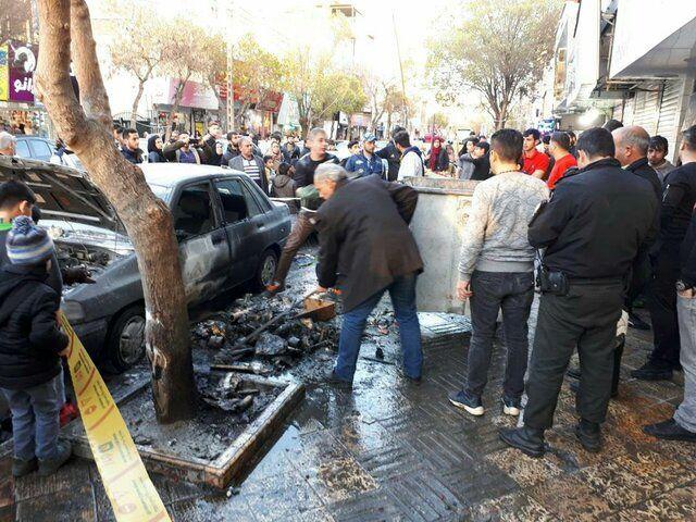 انفجار مواد محترقه چهارشنبه سوری در خیابان نازی آباد