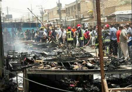 آتش سوزی در بازارچه کیان اهواز
