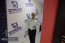 بازدید سید احمد خسروی، ریاست مرکز اطلاع رسانی و ارتباطات ناجا، از ساختمان و دفتر خبرگزاری موج