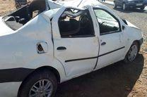 یک کشته  و 4 مصدوم در اثر واژگونی یک خودرو ال 90