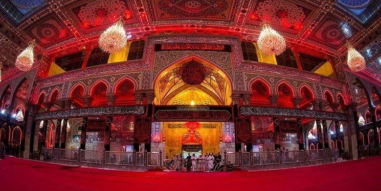حرم امام حسین (ع) با فرشهای قرمز مفروش شد