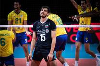 نتیجه بازی والیبال ایران و برزیل/ ایران 1   برزیل 3