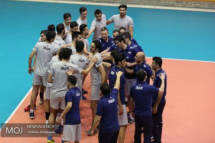 تمرین تیم ملی والیبال