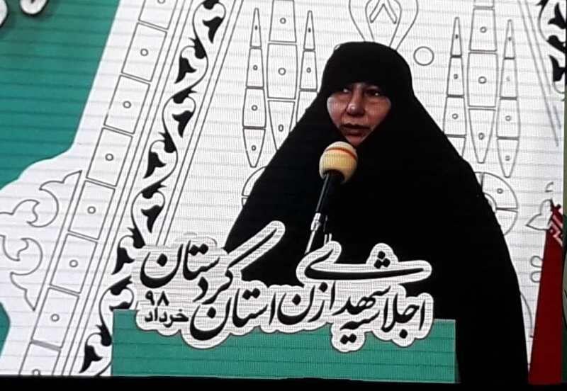 زنان شهیده در کنار مردان انقلابی احیاگر اسلام ناب محمدی هستند