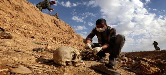 گور جمعی در جنوب موصل کشف شد