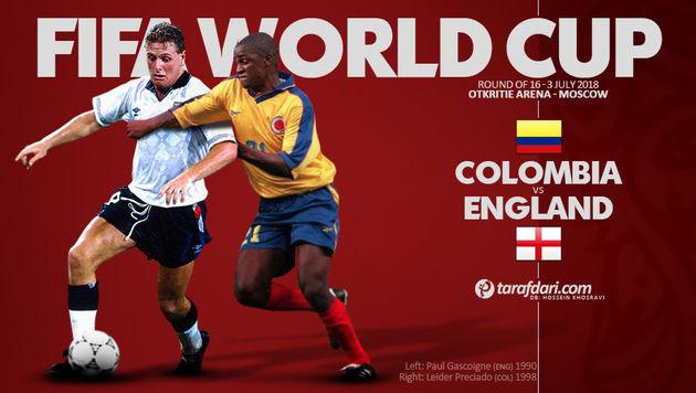 ترکیب اصلی تیم های کلمبیا و انگلیس اعلام شد