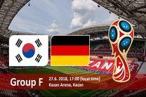 ساعت بازی کره جنوبی و آلمان در جام جهانی
