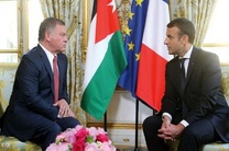 ماکرون و عبدالله دوم تحولات منطقه را بررسی کردند