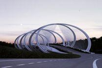 ساخت پل با الهام از حلقههای المپیک + تصاویر