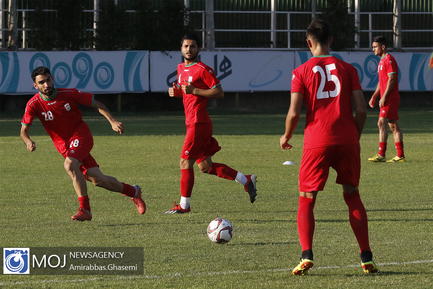 تمرین تیم ملی فوتبال امید - ۲۲ تیر ۱۳۹۸
