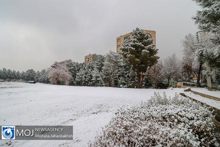 اولین بارش برف زمستانی در اصفهان