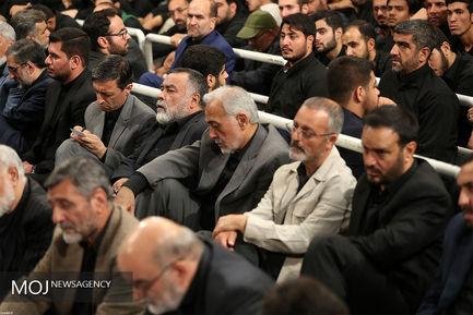 مراسم عزاداری شب تاسوعای حسینی با حضور مقام معظم رهبری
