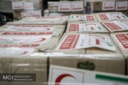 بارگیری کمکهای جمعیت هلالاحمر جهت ارسال به میانمار