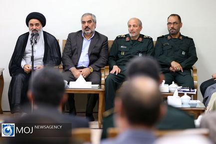 دیدار دستاندرکاران کنگره شهدای استان کردستان با مقام معظم رهبری