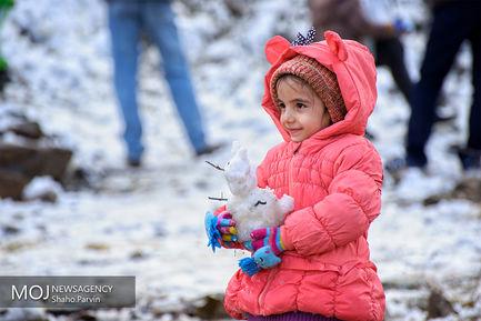 جشنواره آدم برفی در پارک کودک سنندج