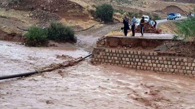 تخریب پل موقت رودخانه جگین