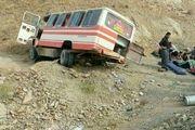 واژگونی مینی بوس در جاده سنندج _مریوان