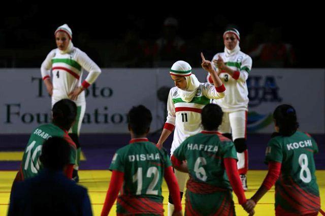 تیم ملی کبدی زنان ایران مقابل بنگلادش به برتری رسیدند