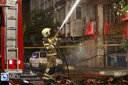 انفجار و آتشسوزی شدید ساختمان چهار طبقه در خیابان فخر رازی