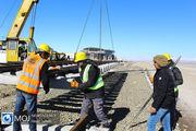 آغاز عملیات ریل گذاری راه آهن اردبیل - میانه