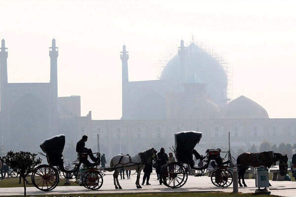 کیفیت هوای اصفهان همچنان ناسالم برای گروه های حساس