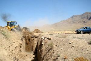 تخریب سه حلقه چاه تولید زغال در گلپایگان