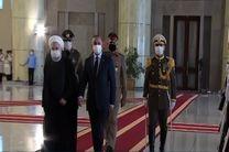 روحانی از نخست وزیر عراق استقبال کرد