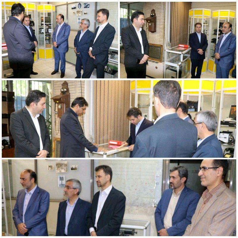 بازدید رئیس موزه ارتباطات کشور از موزه مخابرات اصفهان