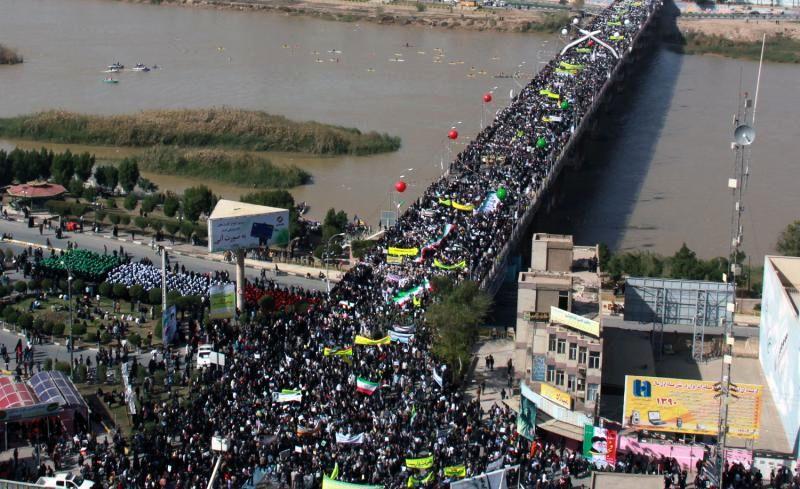 اعلام مسیرهای راهپیمایی 22 بهمن در خوزستان