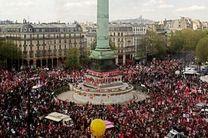 راهپیمایی محدود و تحت کنترل در پاریس