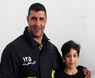 آتش نشان شهر باران قهرمان مسابقات پرورش اندام شد