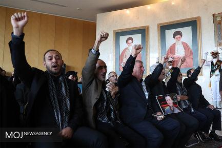 وداع با شهدای ترور در مجلس