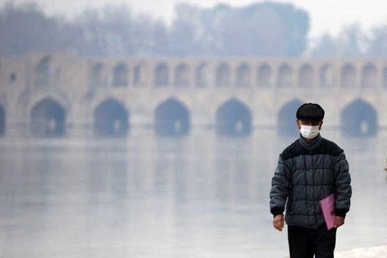 کیفیت هوای اصفهان ناسالم برای گروه های حساس / شاخص کیفی هوا 127