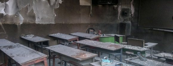 یک مدرسه در محمودآباد دچار آتش سوزی شد
