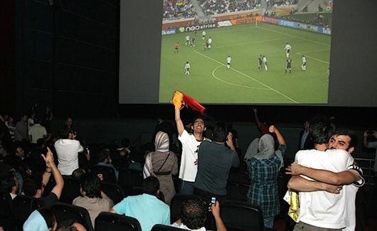پخش مسابقات جام جهانی در سینماها و بوستان های هرمزگان