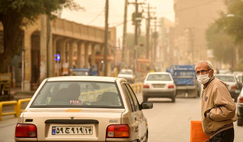 گرد و خاک با منشاء خارجی وارد خوزستان شد